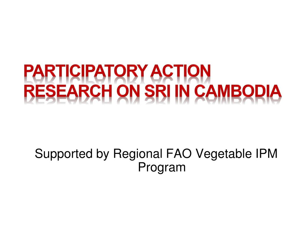 PARTICIPATORY ACTION RESEARCH ON