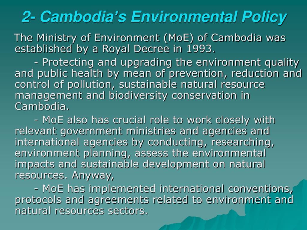 2- Cambodia's Environmental Policy