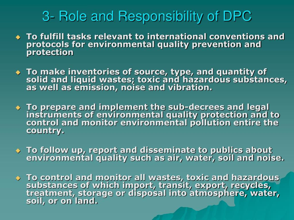 3- Role and Responsibility of DPC