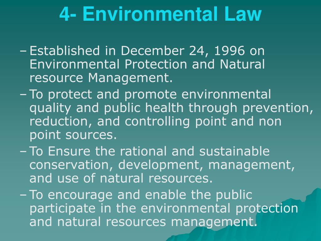 4- Environmental Law