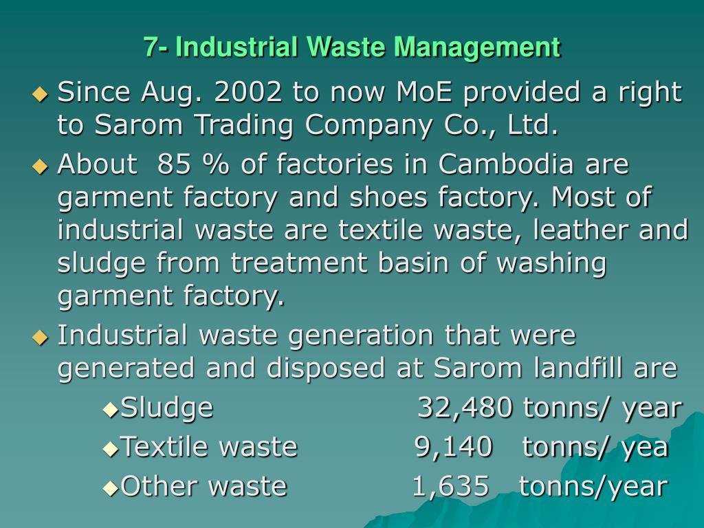7- Industrial Waste Management