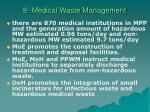 8 medical waste management