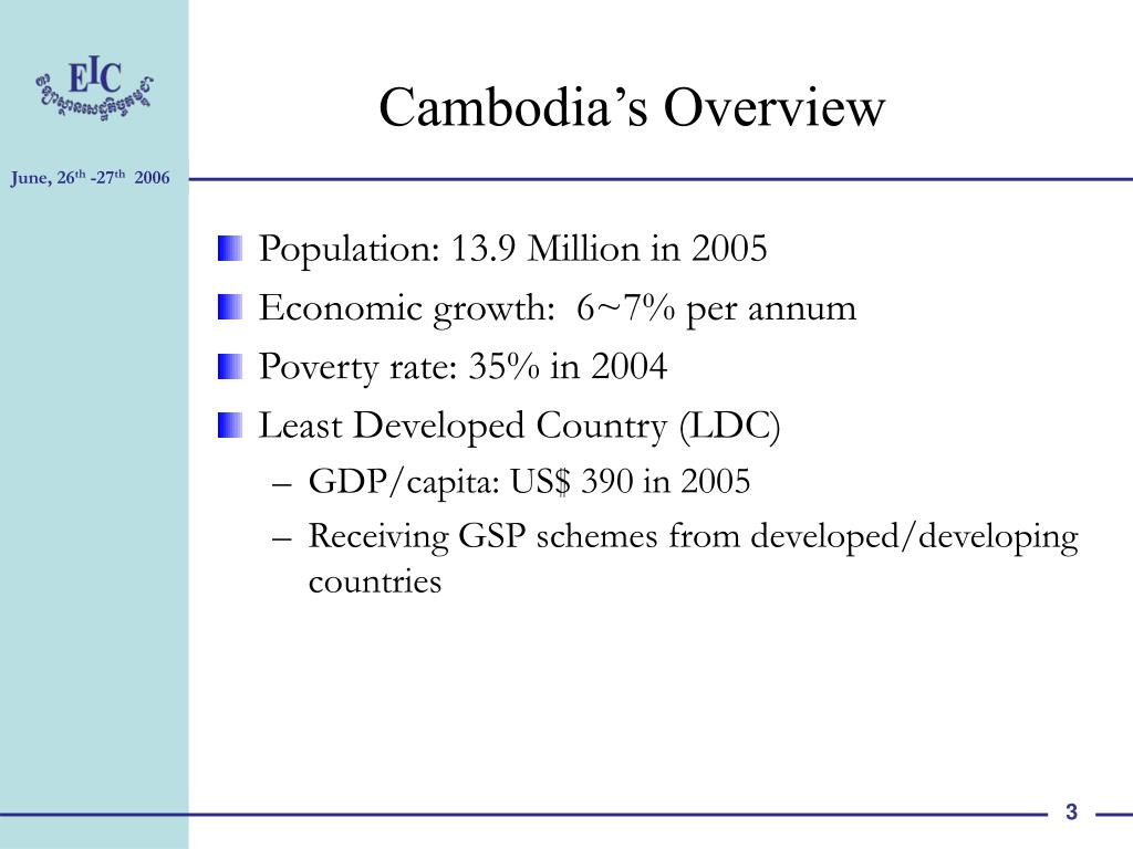 Cambodia's Overview
