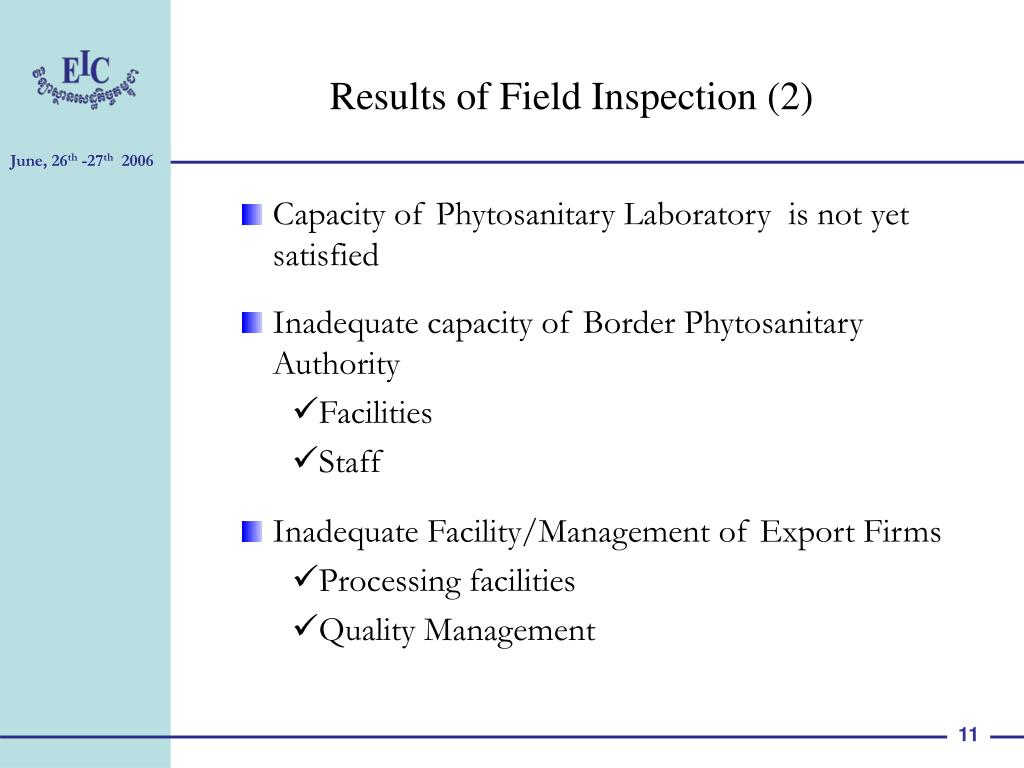 Results of Field Inspection (2)