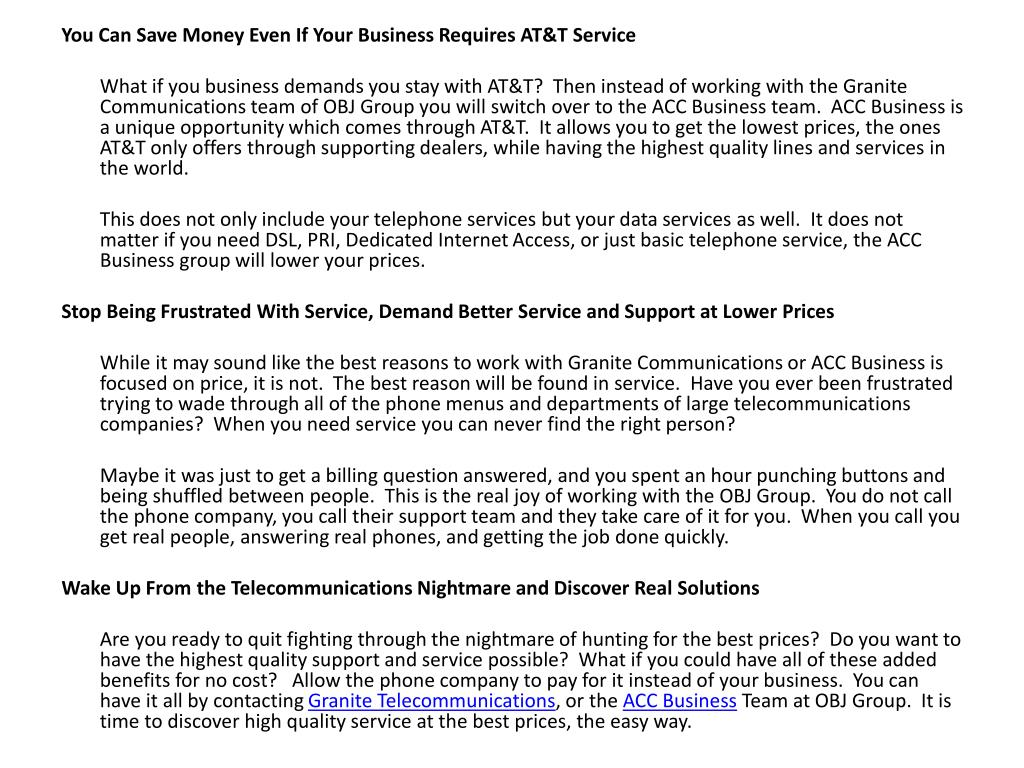 You Can Save Money Even If Your Business Requires AT&T