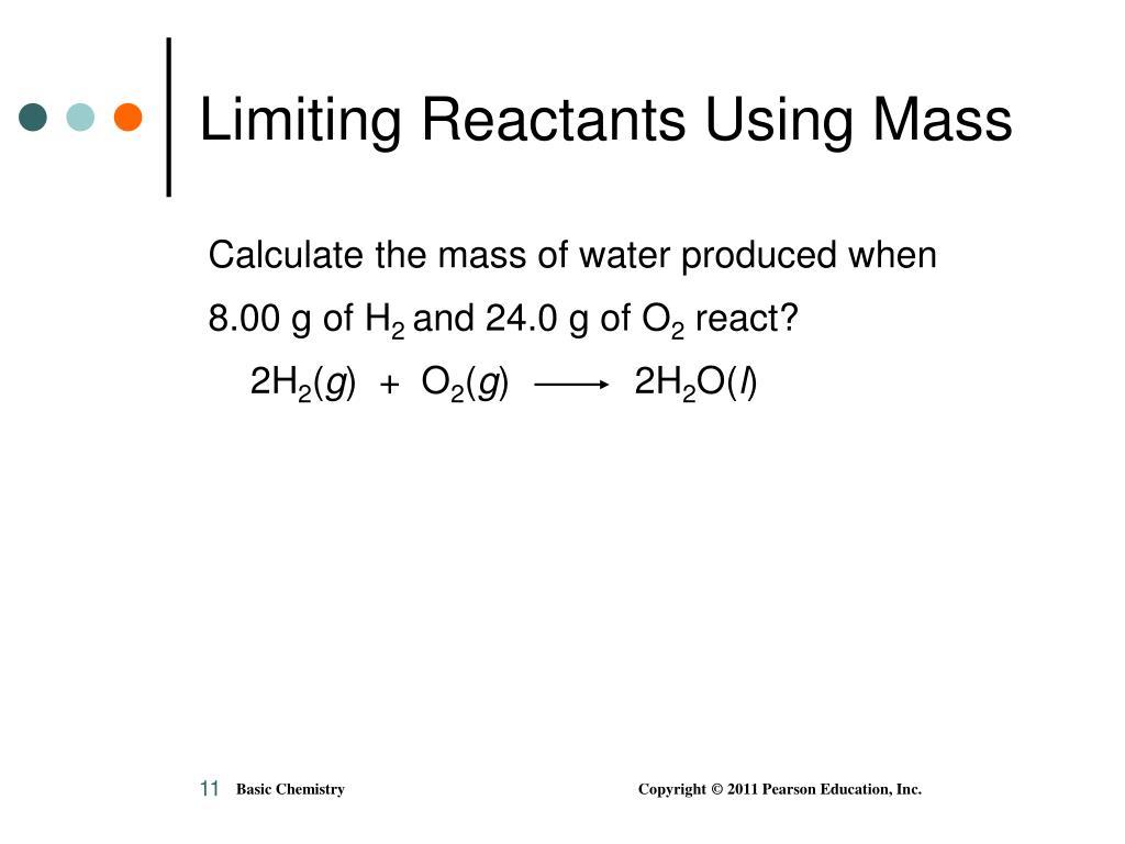 Limiting Reactants Using Mass