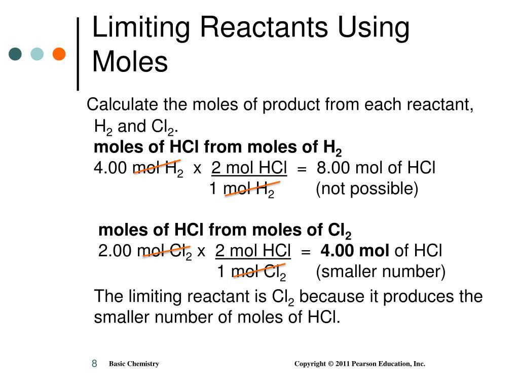 Limiting Reactants Using Moles