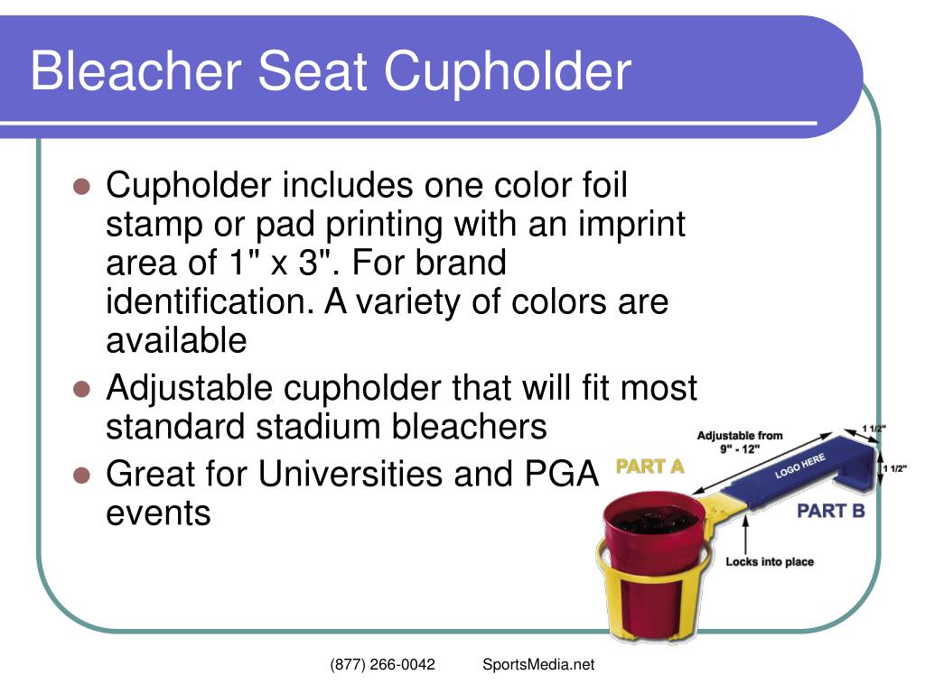 Bleacher Seat Cupholder