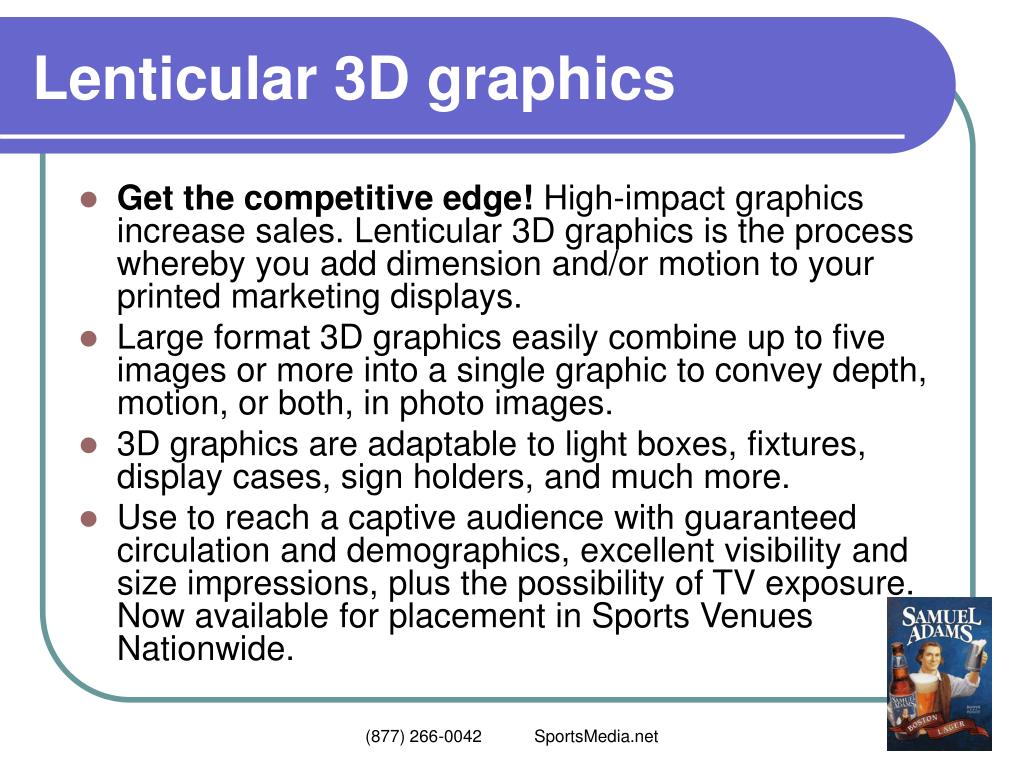 Lenticular 3D graphics