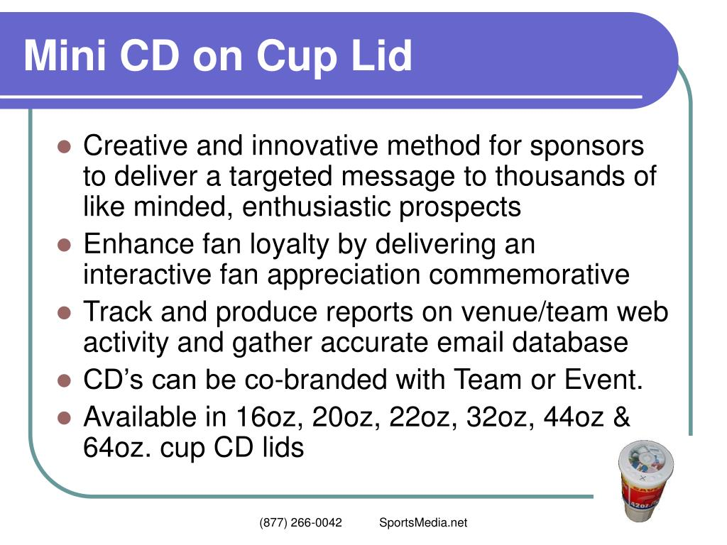 Mini CD on Cup Lid
