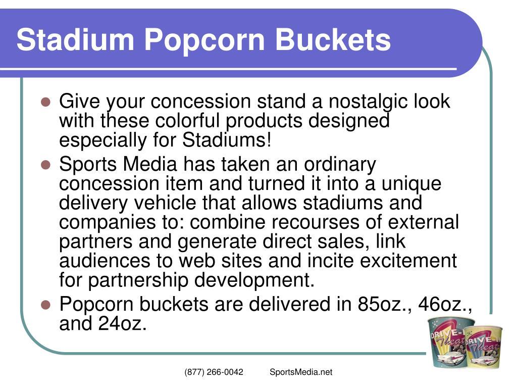 Stadium Popcorn Buckets
