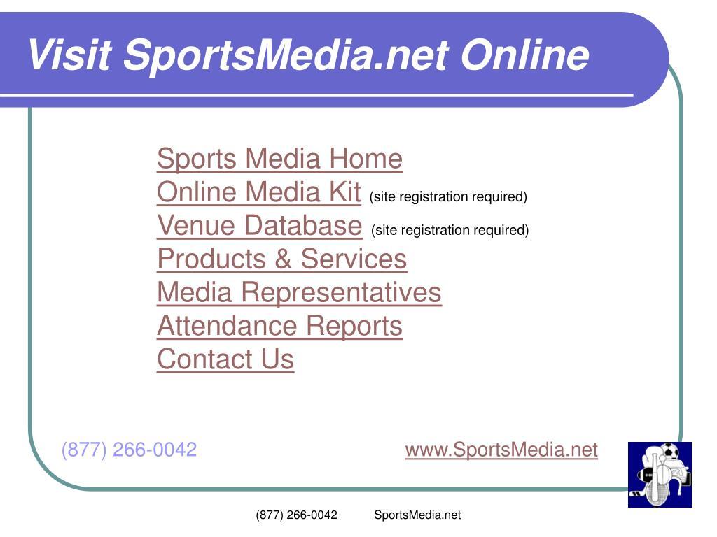 Visit SportsMedia.net Online