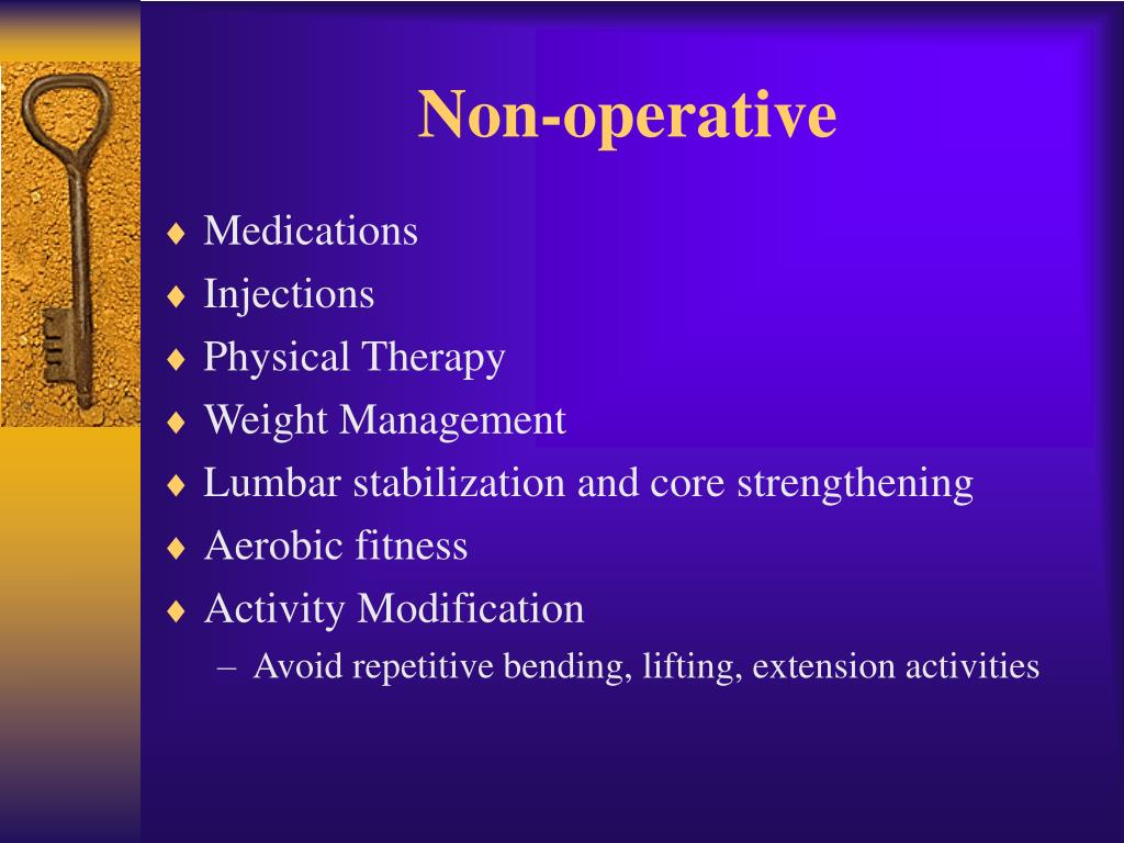 Non-operative