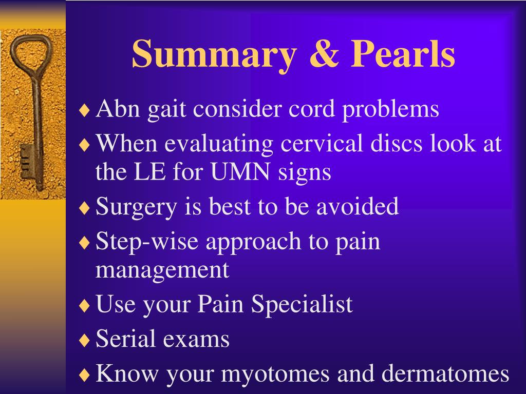 Summary & Pearls