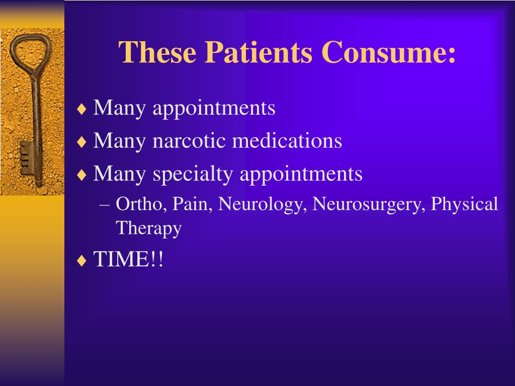 These Patients Consume: