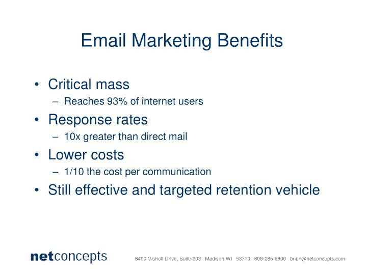 Email Marketing Benefits