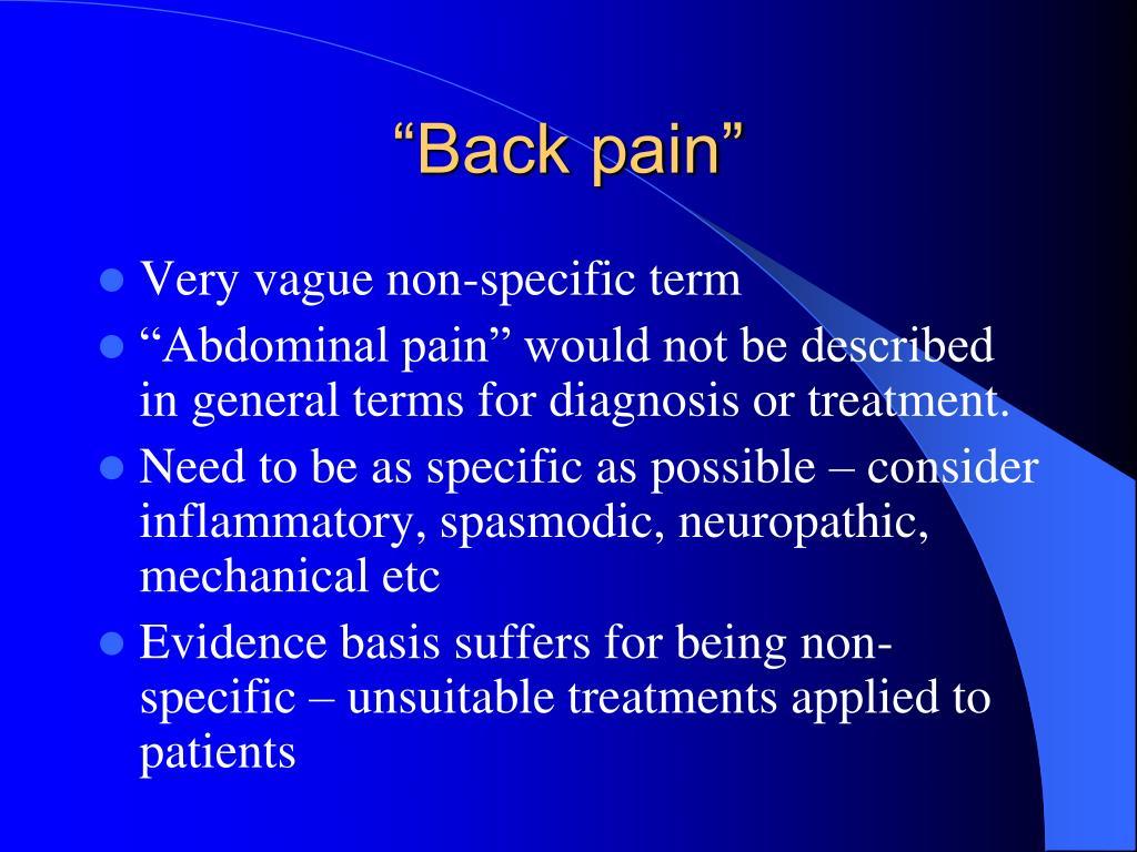 """Back pain"""