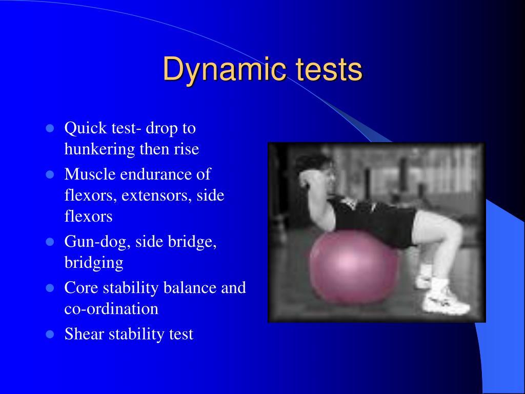 Dynamic tests