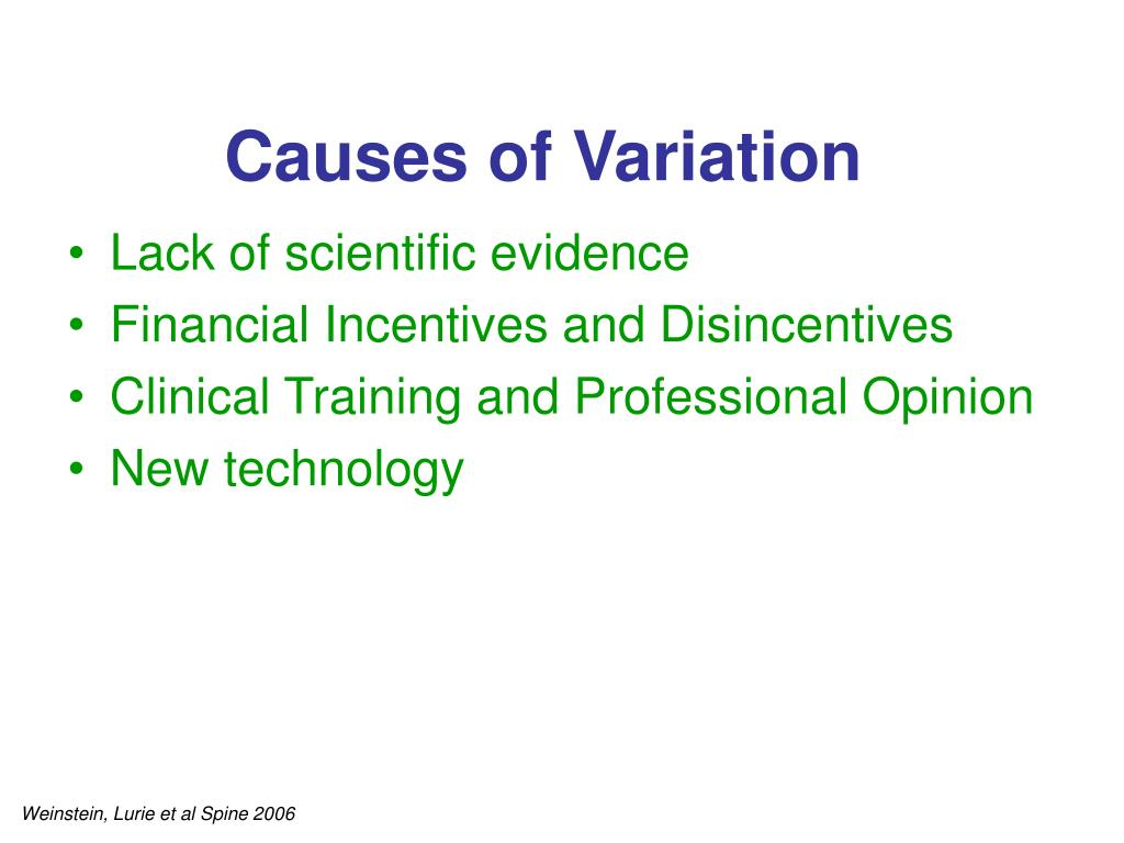 Causes of Variation