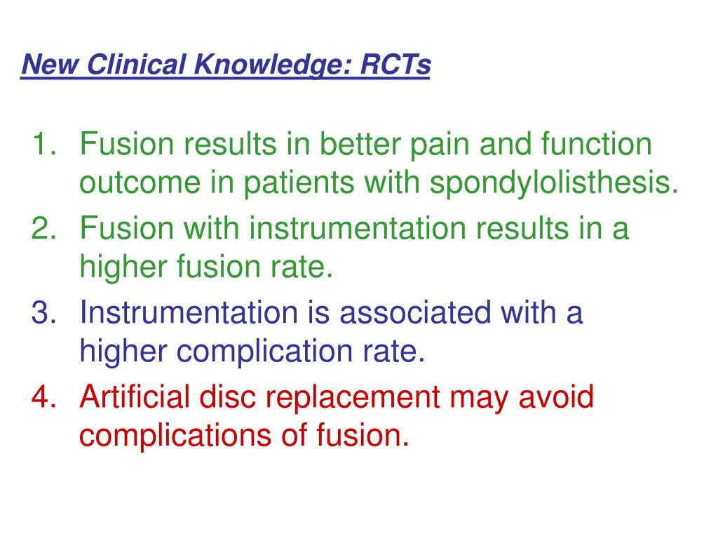 New Clinical Knowledge: RCTs