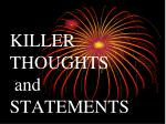 killer thoughts and statements