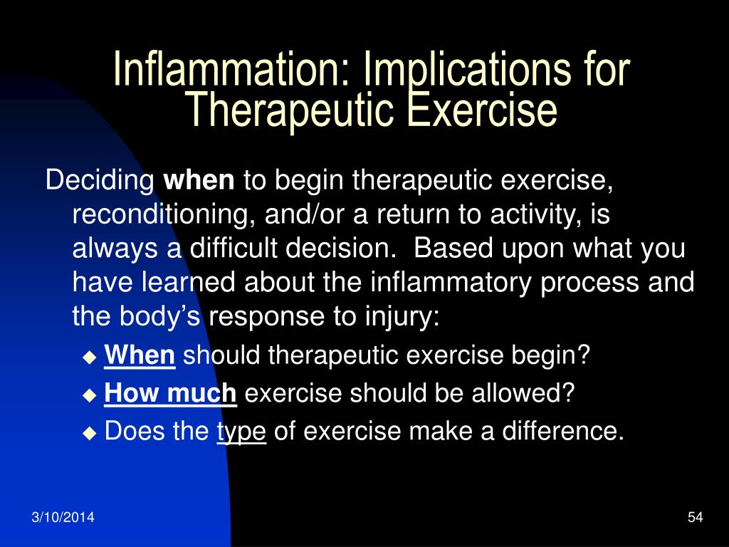 Inflammation: Implications for Therapeutic Exercise