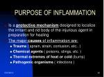 purpose of inflammation
