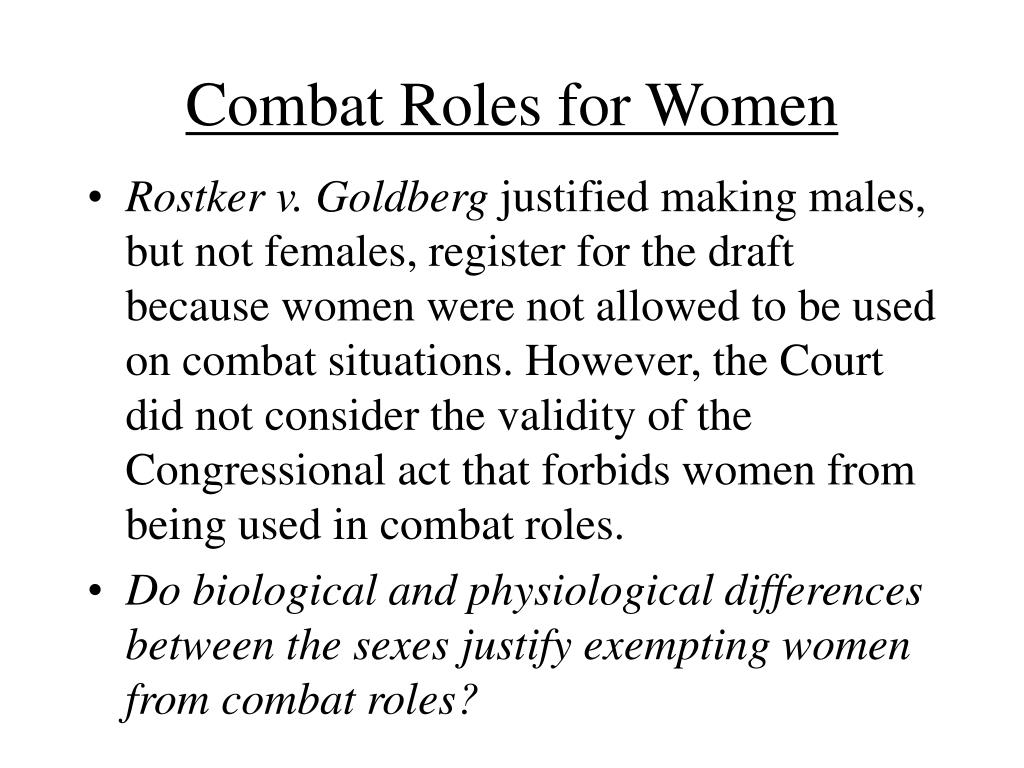 Combat Roles for Women