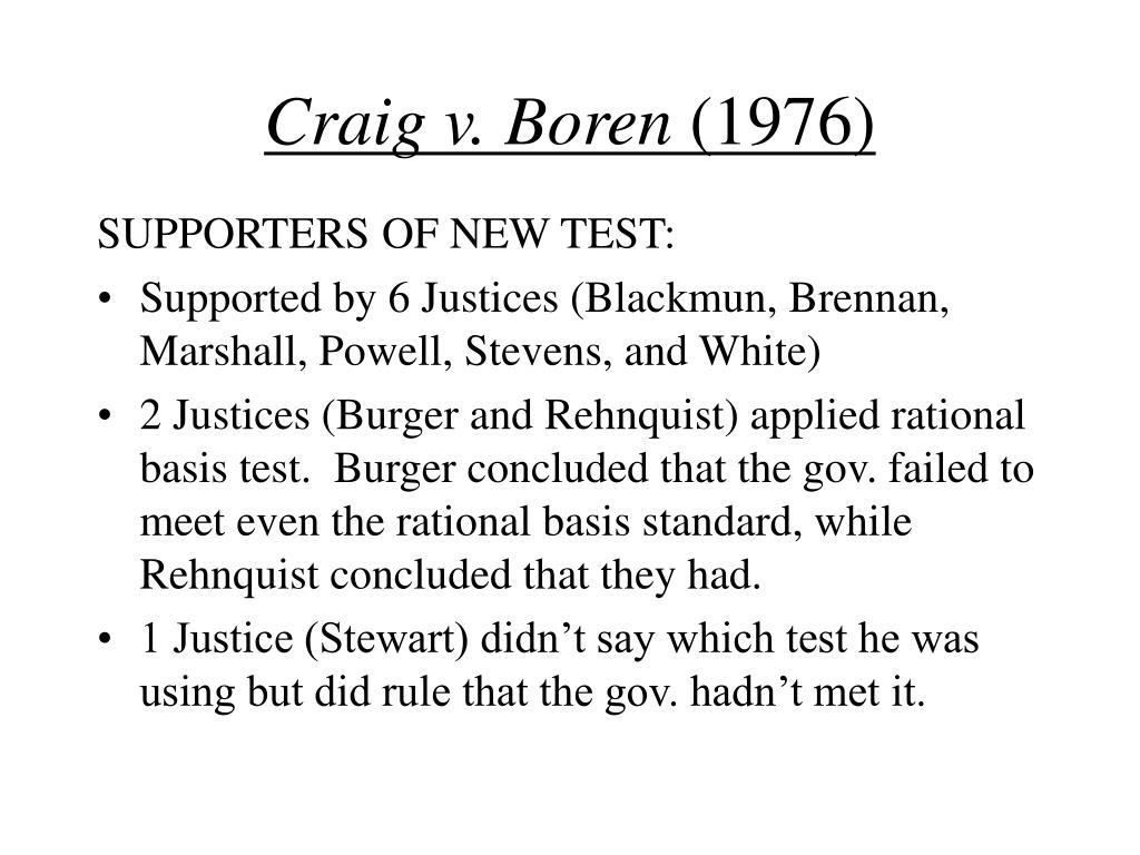 Craig v. Boren
