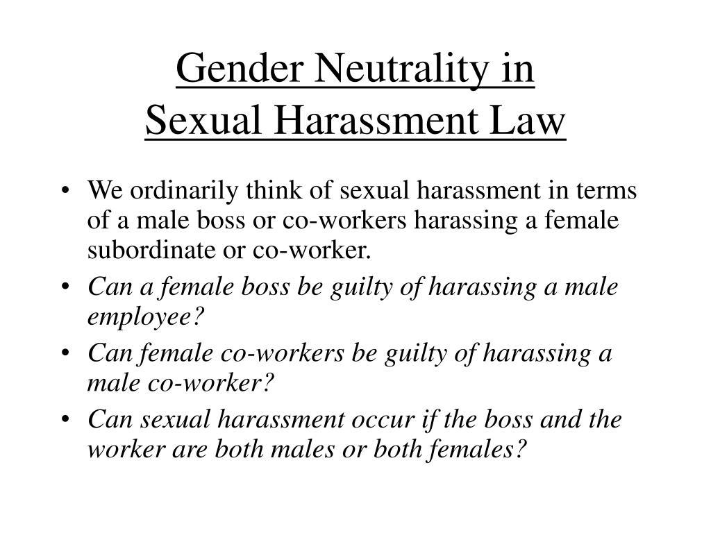 Gender Neutrality in