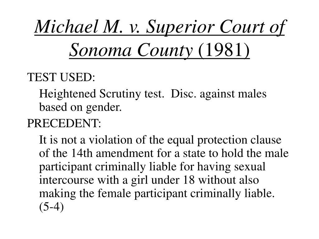 Michael M. v. Superior Court of Sonoma County