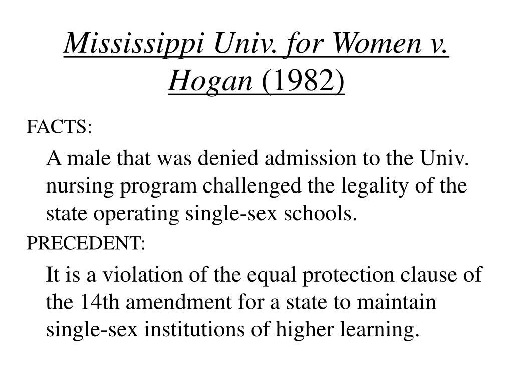 Mississippi Univ. for Women v. Hogan