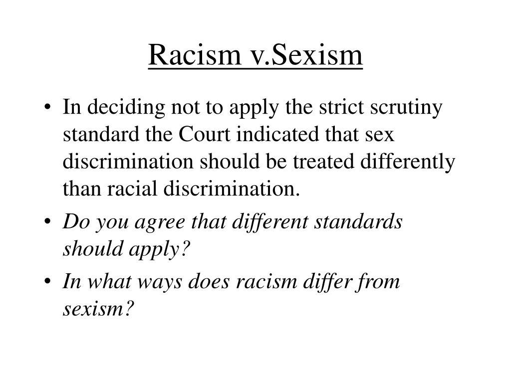 Racism v.Sexism