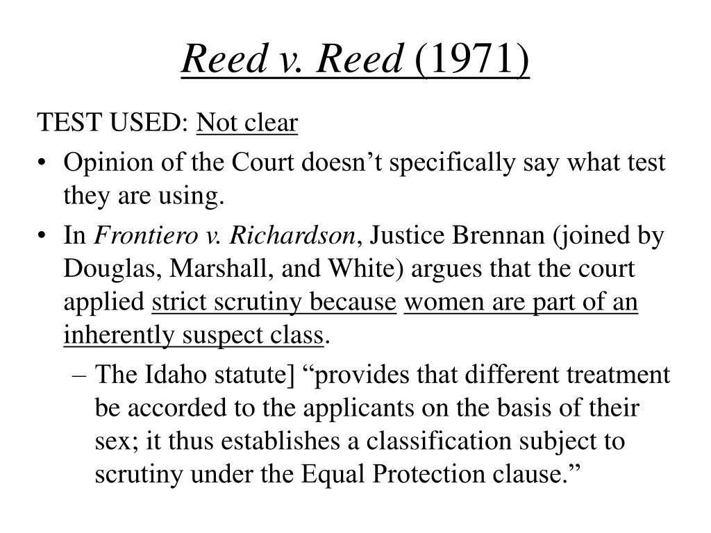 Reed v. Reed