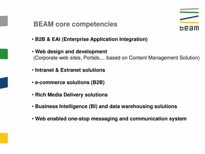 BEAM core competencies