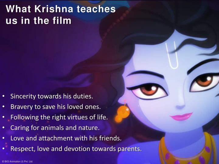 What Krishna teaches