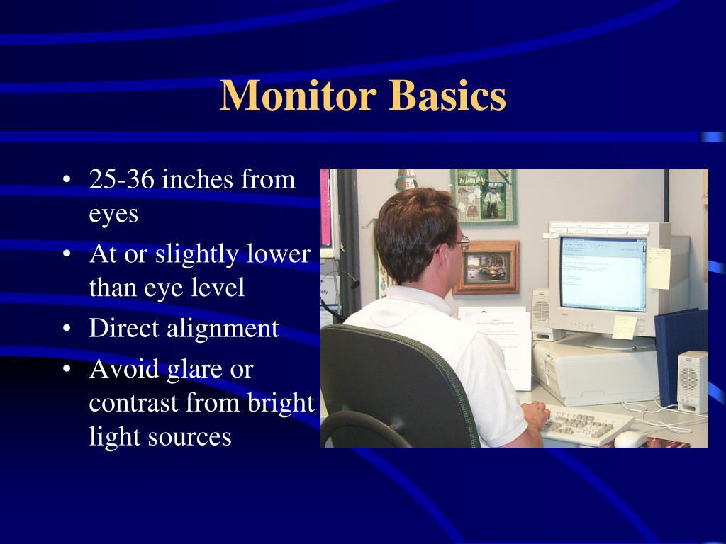 Monitor Basics