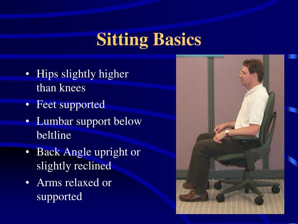 Sitting Basics