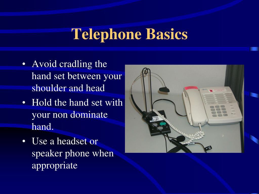 Telephone Basics