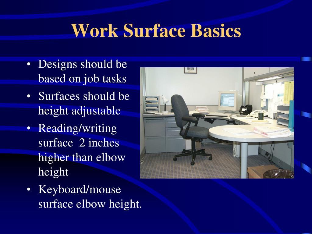 Work Surface Basics