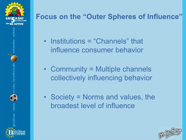 "Focus on the ""Outer Spheres of Influence"""