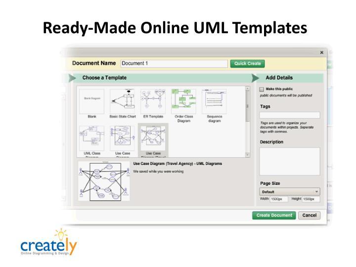 Ready-Made Online UML Templates