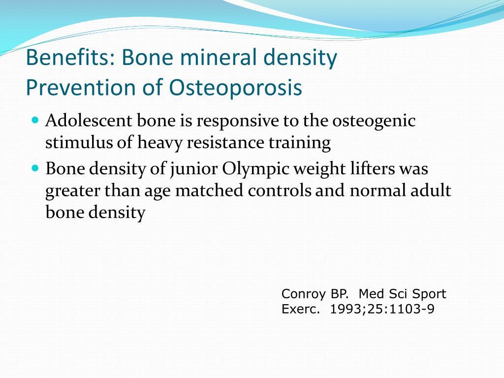 Benefits: Bone mineral density
