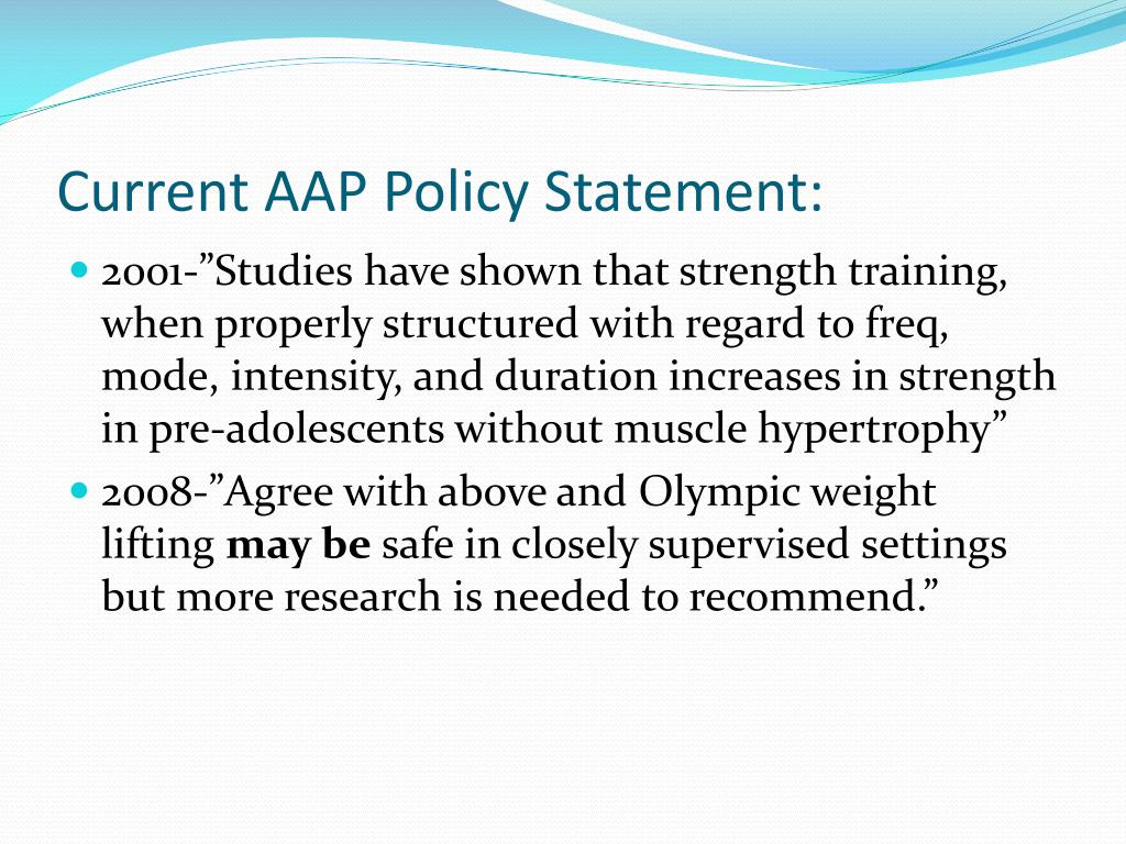 Current AAP Policy Statement: