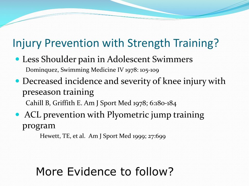Injury Prevention with Strength Training?
