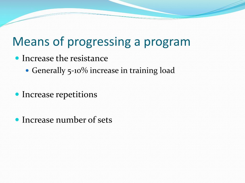 Means of progressing a program