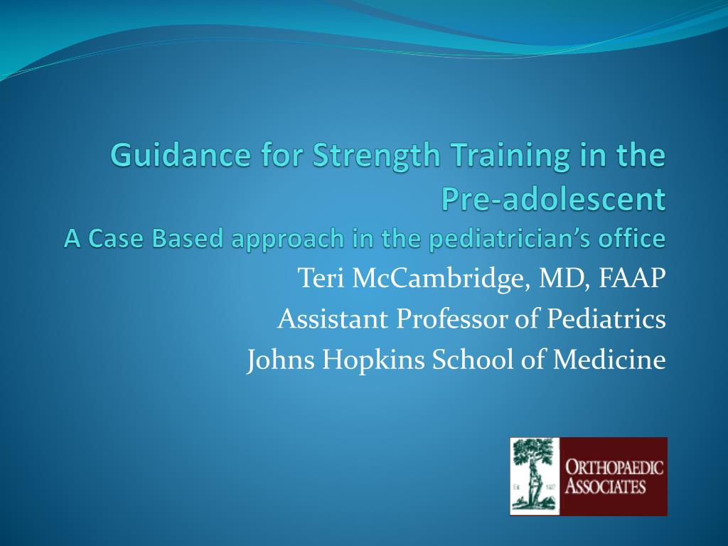 Guidance for Strength Training in the Pre-adolescent