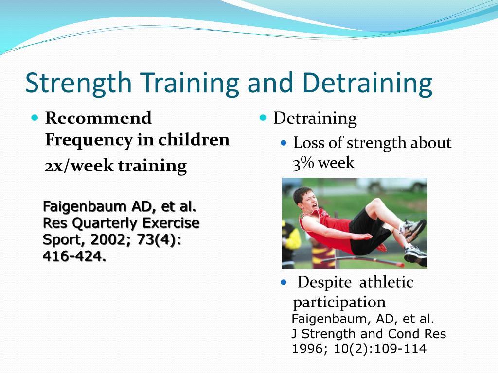 Strength Training and Detraining