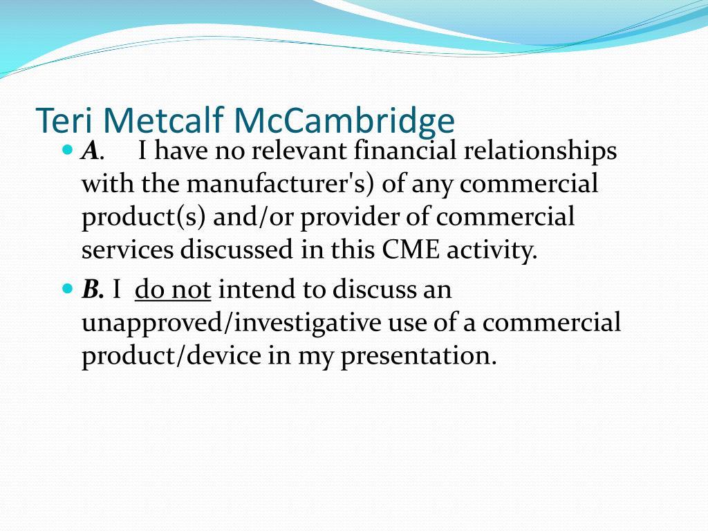 Teri Metcalf McCambridge