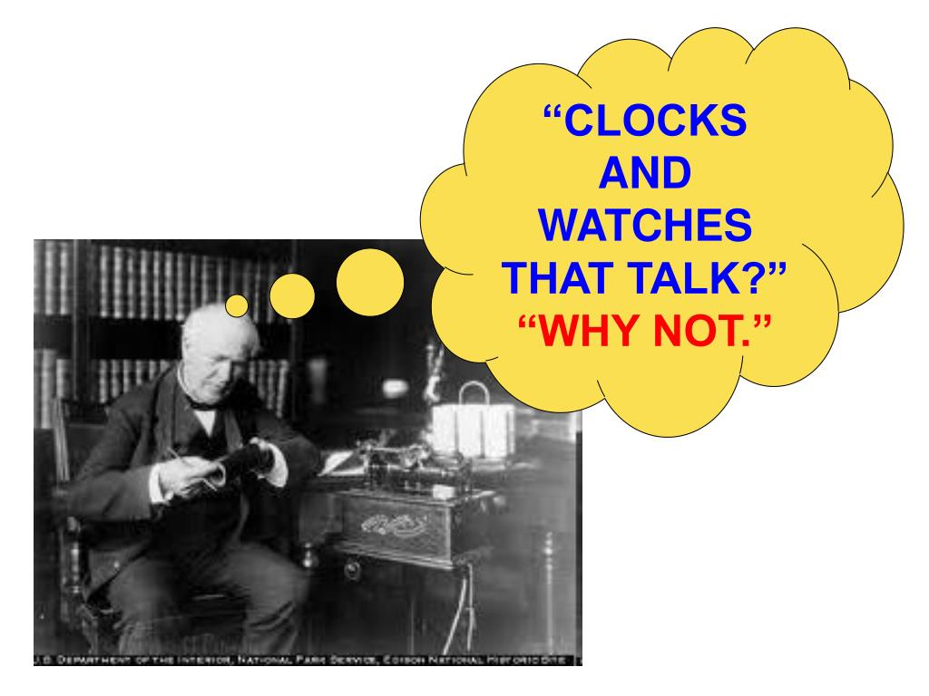 """CLOCKS AND WATCHES THAT TALK?"""